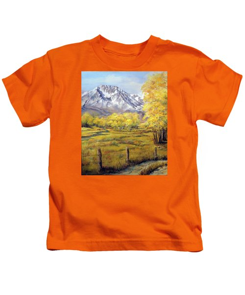 Bishop In The Fall Kids T-Shirt