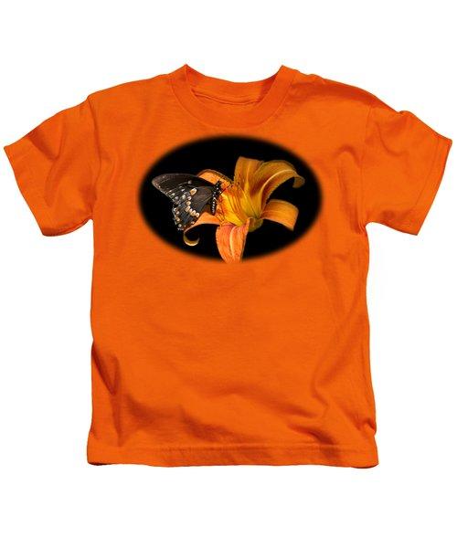 Black Beauty Butterfly Kids T-Shirt