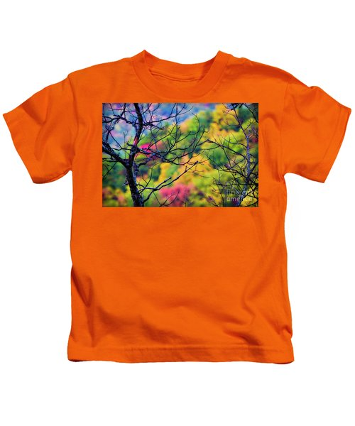 Blue Ridge Autumn Kids T-Shirt