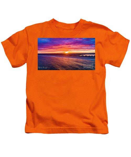 Blue Shutter East Beach Kids T-Shirt