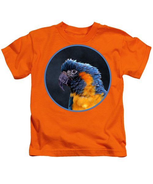Blue-throated Macaw Profile Kids T-Shirt