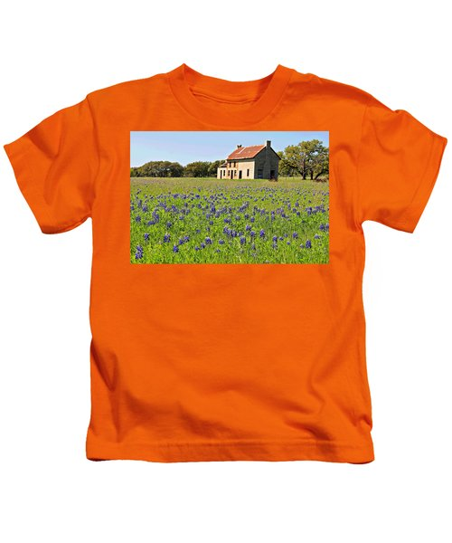 Bluebonnet Field Kids T-Shirt