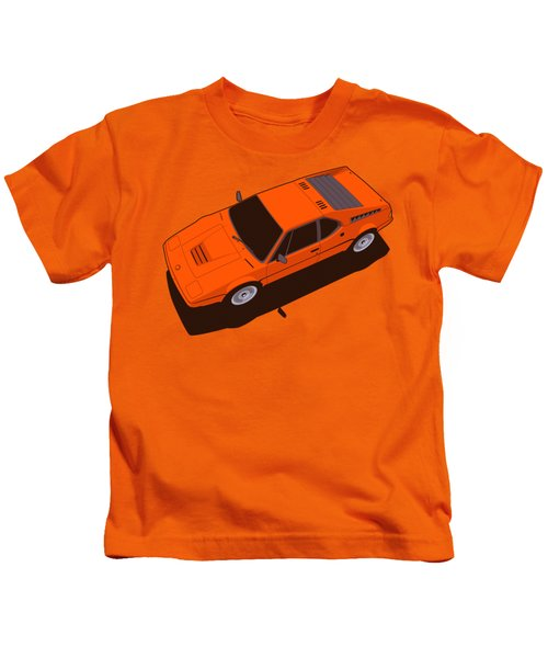 Bmw M1 E26 Red Orange Kids T-Shirt