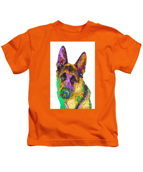 Bogart The Shepherd. Pet Series Kids T-Shirt