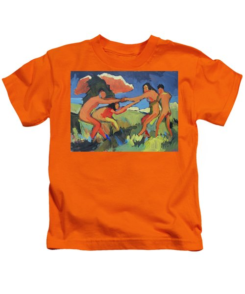 Boys And Girls Playing Kids T-Shirt