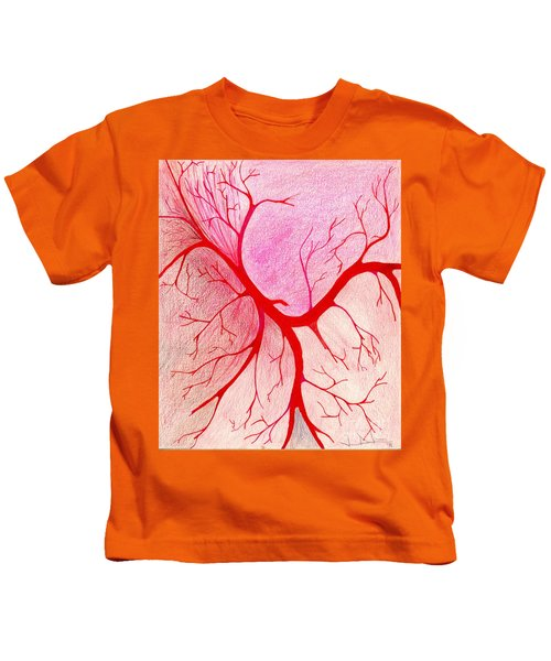 Branches Of Red Kids T-Shirt