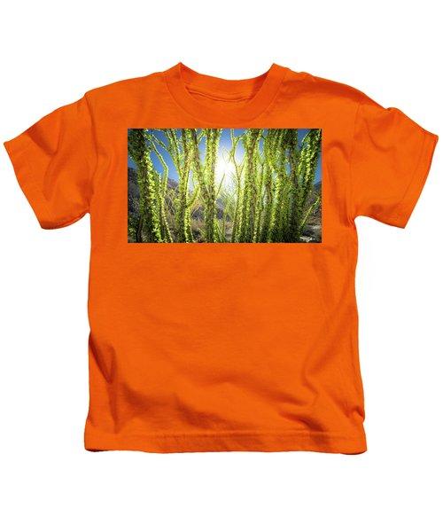 Bright Light In The Desert Kids T-Shirt