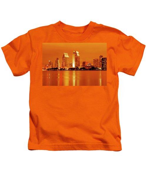 Bronze San Diego Skyline Kids T-Shirt