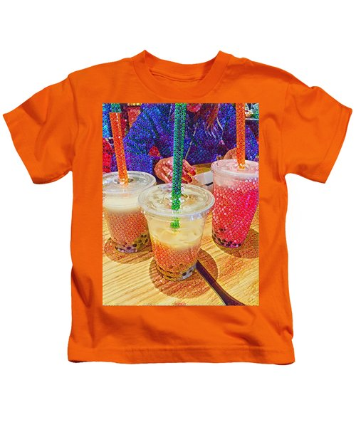 Bubble Tea For Three Kids T-Shirt