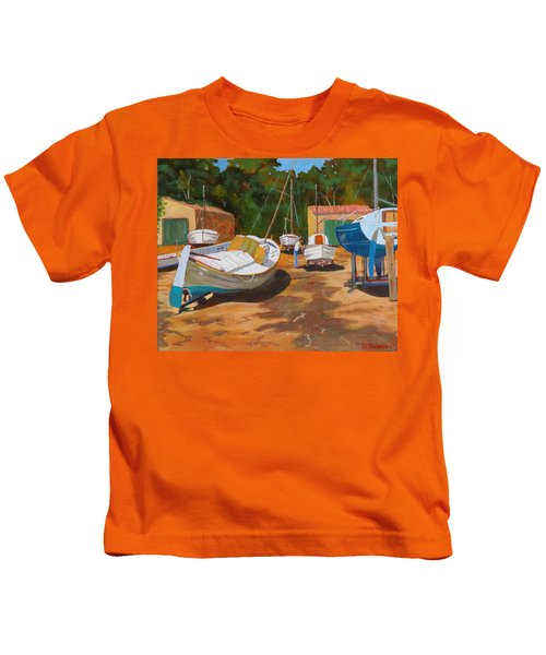Cala Figuera Boatyard - I Kids T-Shirt