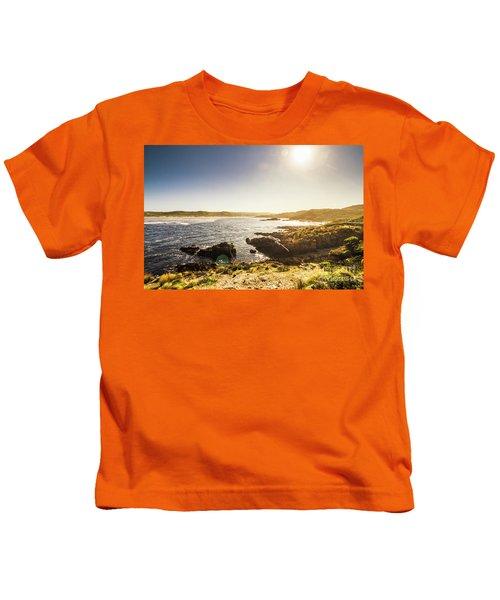 Calming Coastal Waters Kids T-Shirt