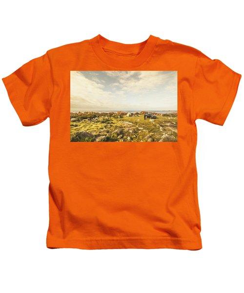 Camping, Driving, Trekking Kids T-Shirt