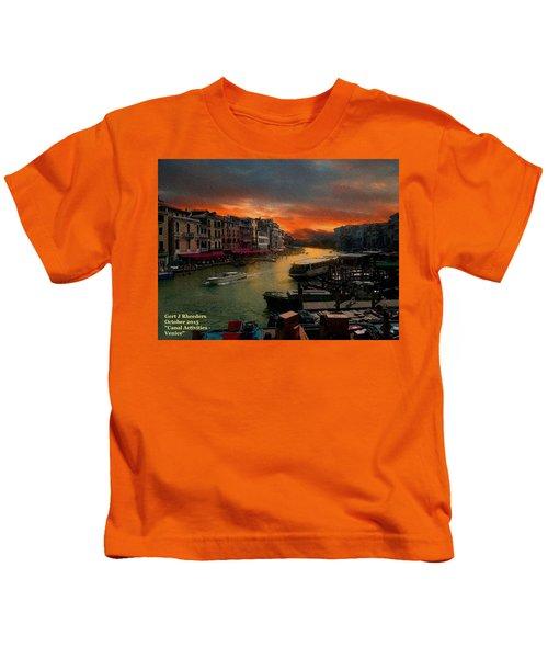 Canal Activities - Venice H A Kids T-Shirt