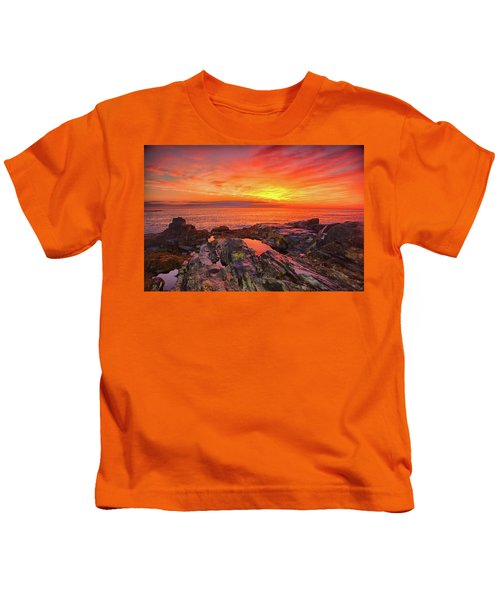 Cape Neddick Sunrise Kids T-Shirt