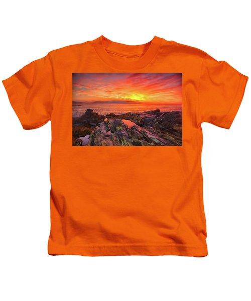 Cape Neddick Sunrise Kids T-Shirt