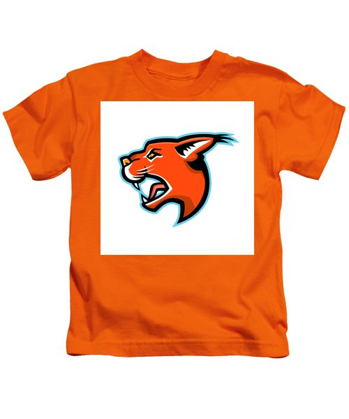 Caracal Head Side Mascot Kids T-Shirt