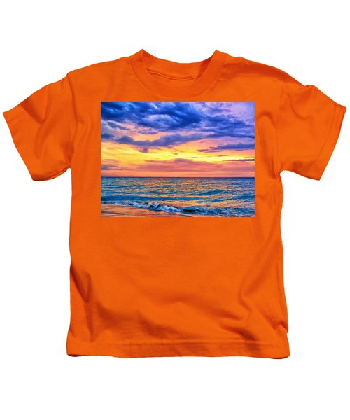 Caribbean Sunset Kids T-Shirt