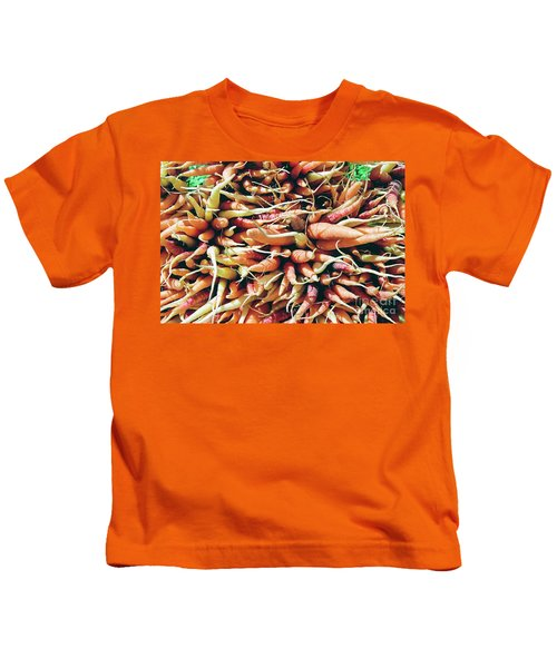 Carrots Kids T-Shirt by Ian MacDonald