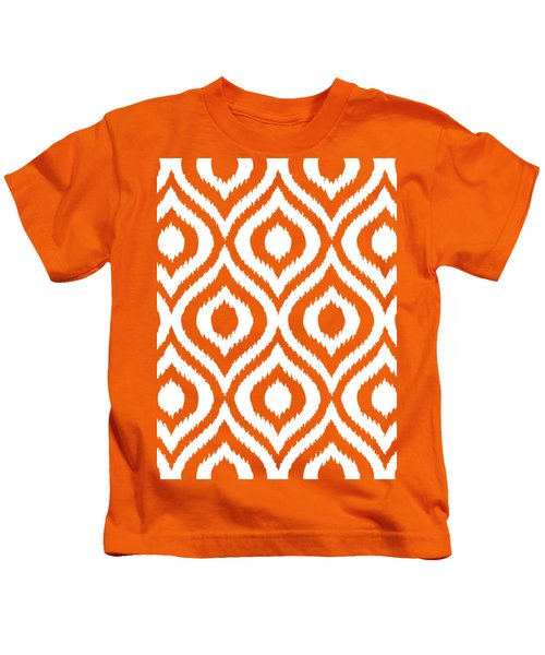 Circle And Oval Ikat In White N03-p0100 Kids T-Shirt