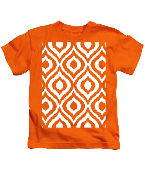 Circle And Oval Ikat In White T03-p0100 Kids T-Shirt