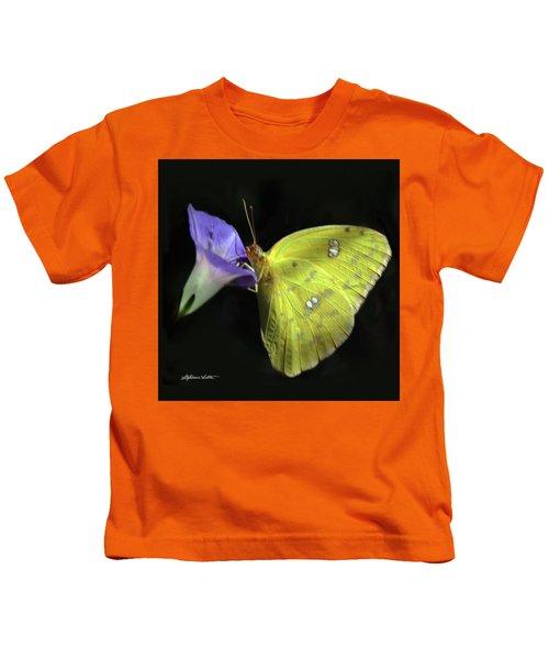 Clouded Sulfur Butterfly Kids T-Shirt