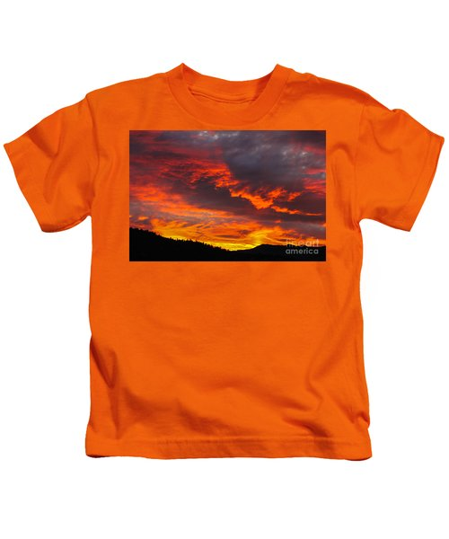 Clouds On Fire Kids T-Shirt
