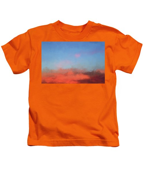 Color Abstraction Xlvii - Sunset Kids T-Shirt