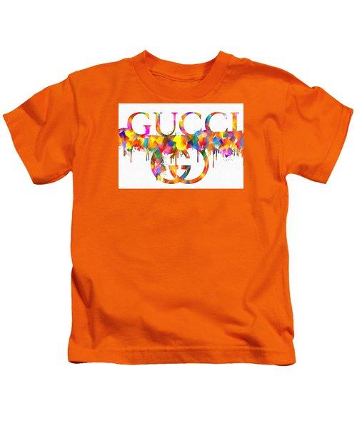 Colorful Gucci Paint Splatter Kids T-Shirt