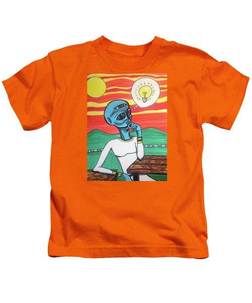 Contemplative Alien Kids T-Shirt