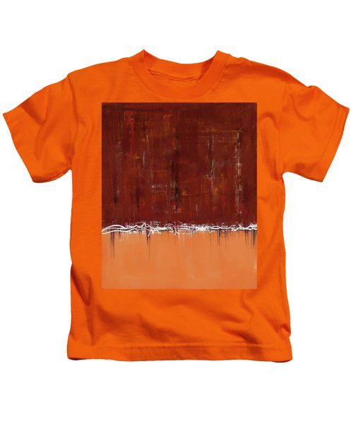 Copper Field Abstract Painting Kids T-Shirt