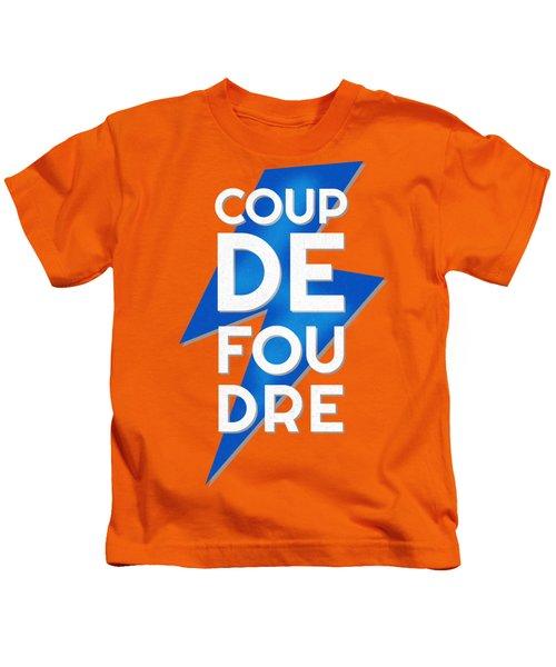 Coup De Foudre Blue Lightning Kids T-Shirt