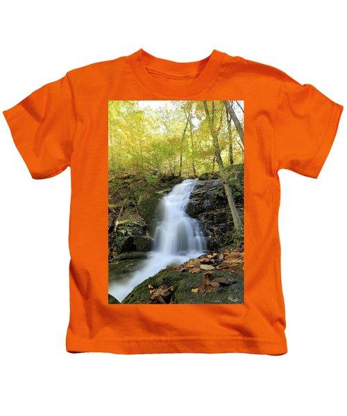 Crabtree Falls In The Fall Kids T-Shirt