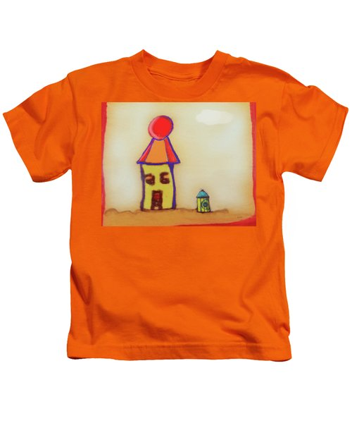 Cranky Clown Cabana And Fire Hydrant Kids T-Shirt