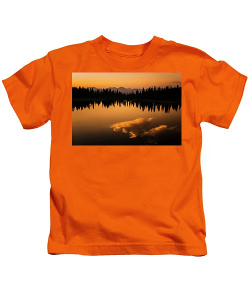 Crater Lake Sunset Kids T-Shirt