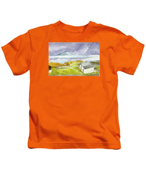 Croagh Patrick And Purple Sky Kids T-Shirt