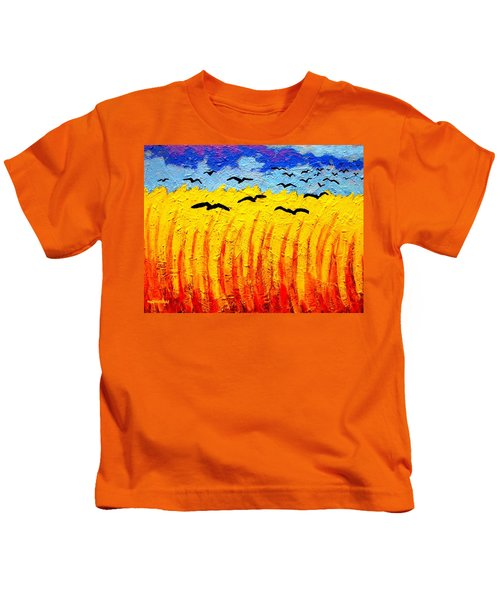 Crows Over Vincent's Field Kids T-Shirt