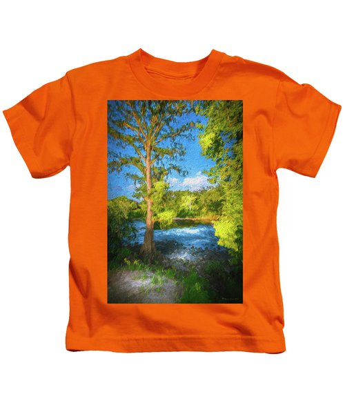 Cypress Tree By The River Kids T-Shirt