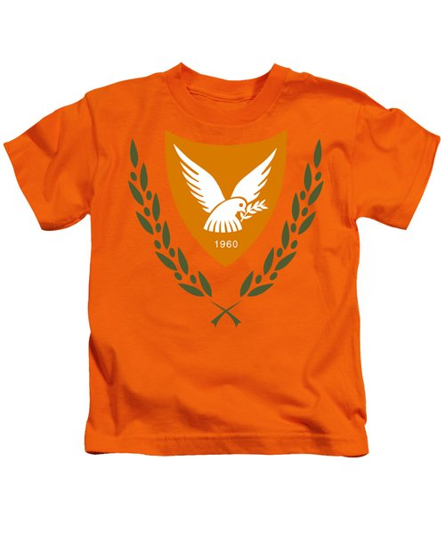 Cyprus Coat Of Arms Kids T-Shirt by Movie Poster Prints