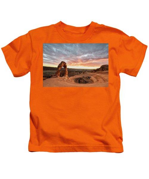 Delicate At Sunset Kids T-Shirt