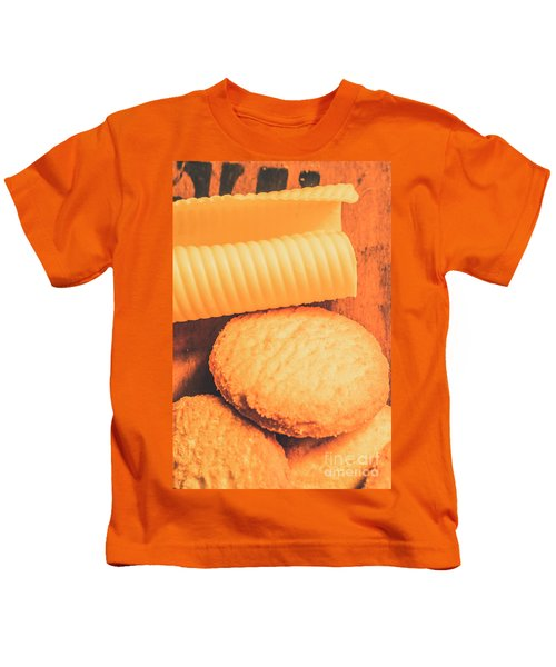 Delicious Cookies With Piece Of Butter Kids T-Shirt