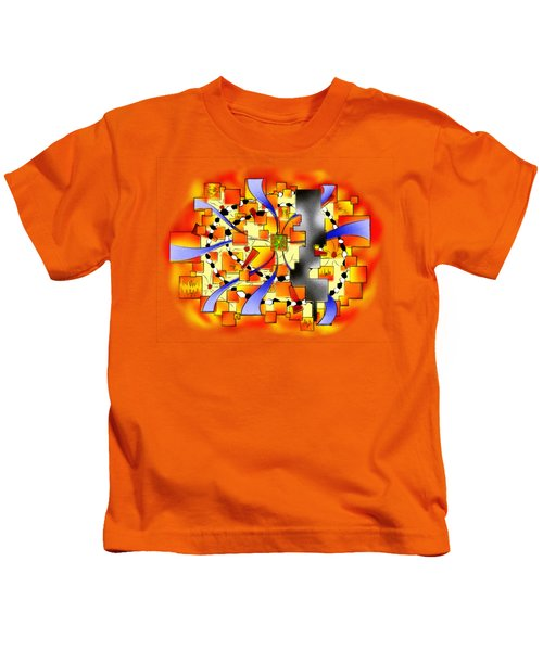 Deselia V3 - Abstract Digital Artwork Kids T-Shirt