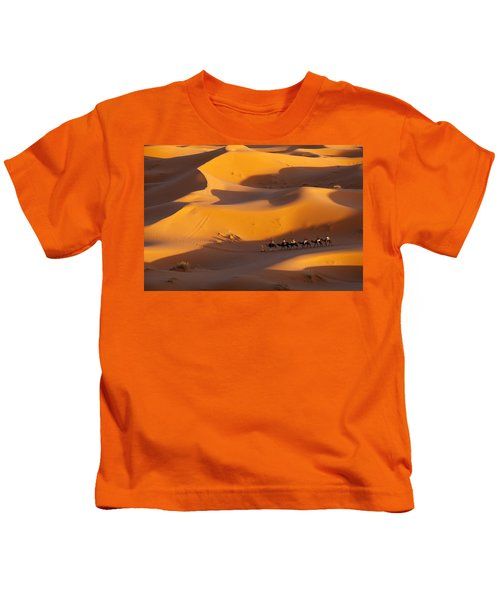 Desert And Caravan Kids T-Shirt