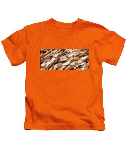 Designer Camo In Beige Kids T-Shirt