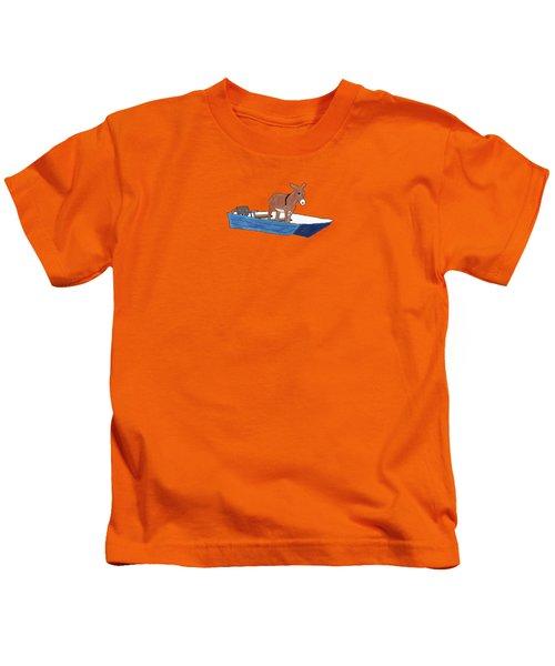 Donkey Daybreak Kids T-Shirt by Priscilla Wolfe