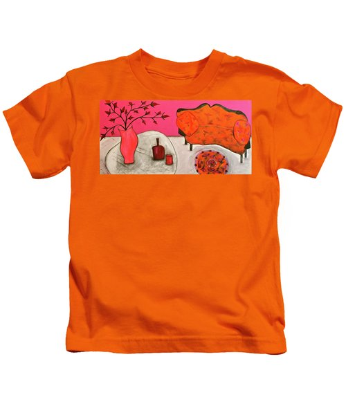 Down The Stairs Into The Living Room  By Paul Paucciarelli  Kids T-Shirt