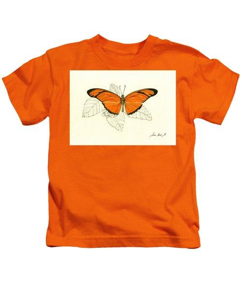 Dryas Iulia, Orange Julia Butterfly Kids T-Shirt