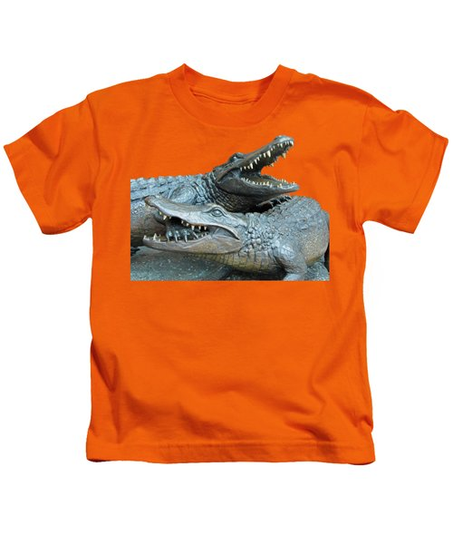 Dueling Gators Transparent For Customization Kids T-Shirt by D Hackett
