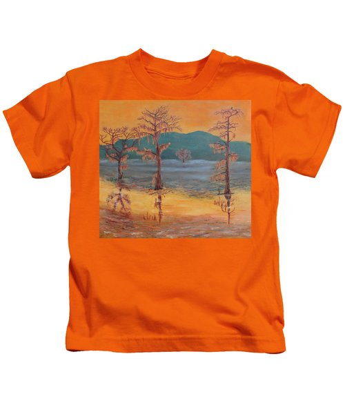 Evening On Caddo Lake Kids T-Shirt