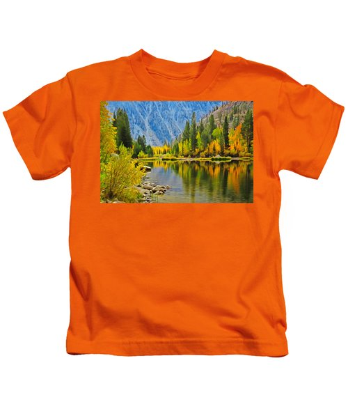 Fall At North Lake Kids T-Shirt