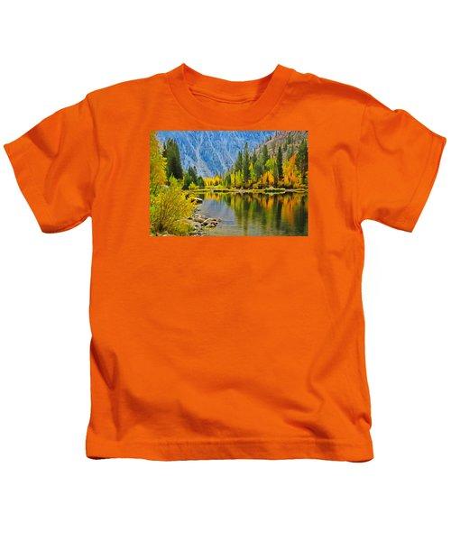 Fall At North Lake Kids T-Shirt